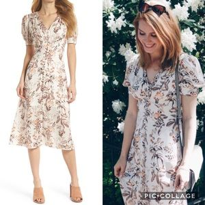 Gal Meets Glam Botanical maxi floral dress